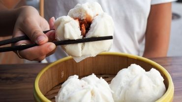 Steamed pork bun dumplings