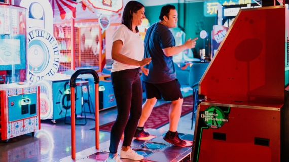 Dance Dance Revolution at B.Lucky & Sons
