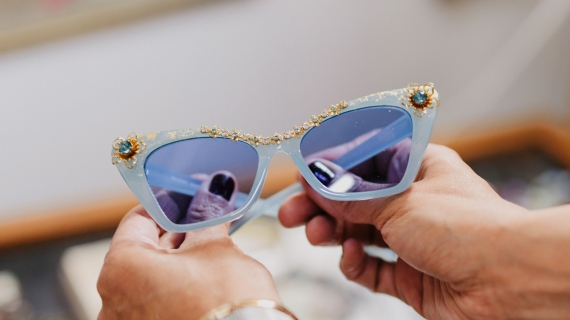 Blue sunglasses from Valley Treasures
